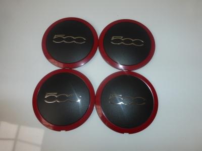 original fiat 500 enjoliveur enjoliveur cache moyeu alliage rouge ebay. Black Bedroom Furniture Sets. Home Design Ideas