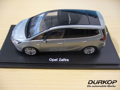 opel zafira c tourer silver lake 1 43 modellauto neu ebay. Black Bedroom Furniture Sets. Home Design Ideas
