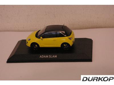 opel adam slam 1 43 modellauto gelb neu ebay. Black Bedroom Furniture Sets. Home Design Ideas