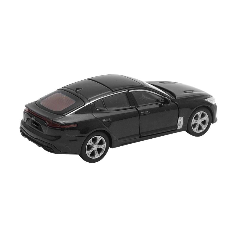 Kia stinger maqueta de coche modelo de coleccionista 1:38 aurora negro metálico